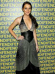 lindsay lohan dress