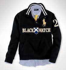 ralph lauren black watch polo