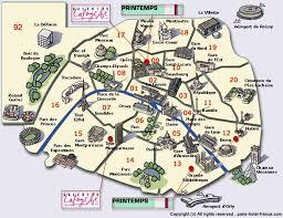 paris landmark map