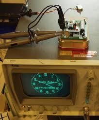 oscilloscope clock