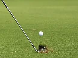 golf iron shot