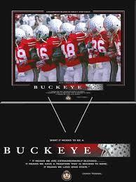 ohio state football poster