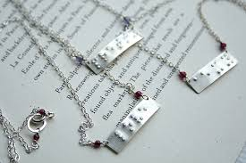 braille necklace