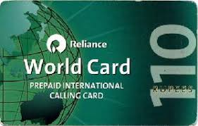 reliance recharge card