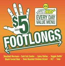 $5 dollar foot long