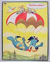 cartoon parachuting