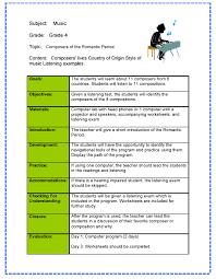 lesson plan samples