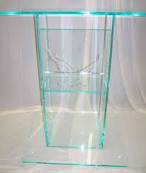 glass podium