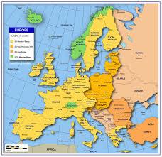 mapa europy ze stolicami