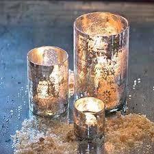mercury glass candleholder
