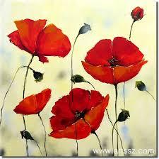 flower oil paint