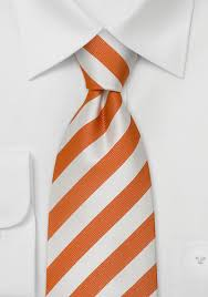 orange neck ties