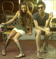 knee high sandal