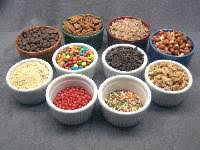 icecream toppings