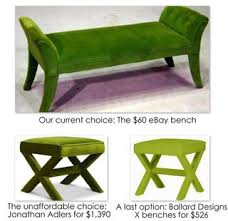 green ottomans