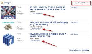 �Facebook charging� term