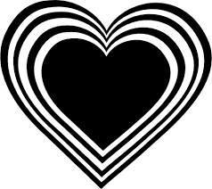 black and white heart clip art