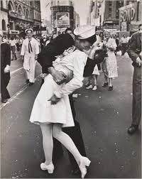 nurse kissing sailor