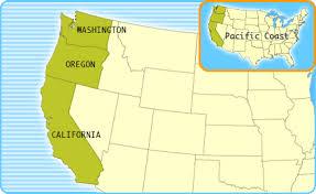 pacific coast map