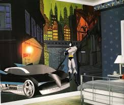 batman wall murals