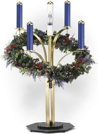 blue advent candles