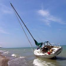 beach sailboat