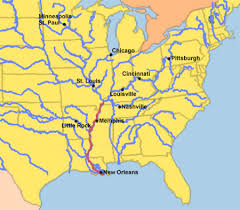 map with mississippi river