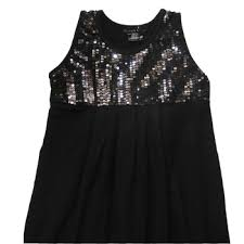 black sequin tops