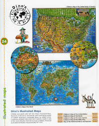 childrens united states map