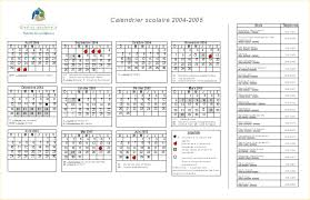 calendrier word