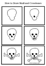 how to draw a skull head