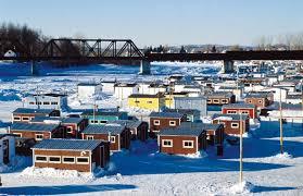 ice fishing shacks