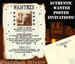 cowboy wedding invitation