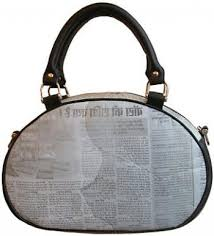 newspaper handbag