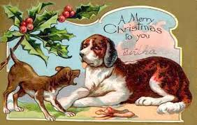 christmas cards dogs