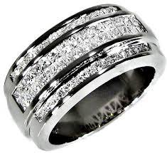 mens wedding bands diamonds