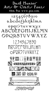 arts and crafts font