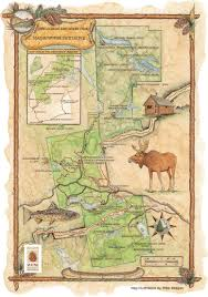 100 mile wilderness map