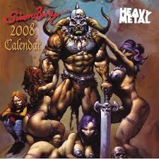 heavy metal calendar