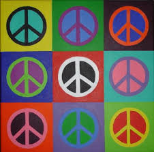 peace sign paintings