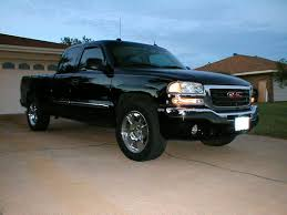 black gmc sierra