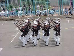 marine corps silent drill team