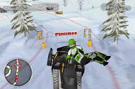 snow mobile racing
