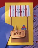carnival theme invitations