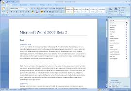 ms office 2007 word