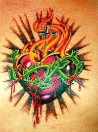 sacred heart tattoo designs