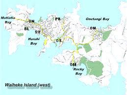 map of waiheke island
