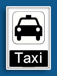 taxi cab signs