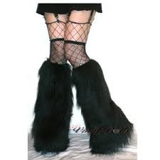 black fluffy boots