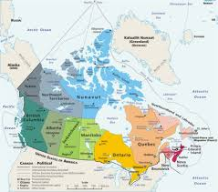 map of lakes in canada